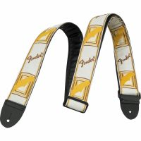 "Ремень для гитары FENDER 2"" MONOGRAMMED WHITE/BROWN/YELLOW STRAP"