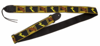 Ремень для гитары FENDER 2' MONOGRAMMED BLACK/YELLOW/BROWN STRAP