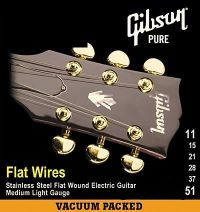 Струны для электрогитары GIBSON FLATWIRES STAINLESS STEEL FLATWOUND